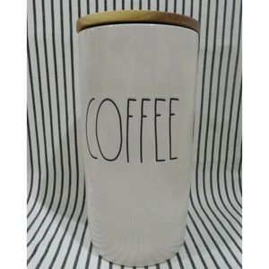 RAE DUNN COFFEE Canister with Wood Lid